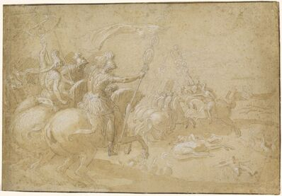 Antoine Caron, 'Ancient Roman Warriors Riding into Battle', ca. 1597