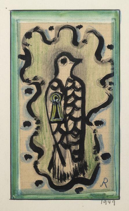 Hans Reichel, 'Vogel mit Schlusselloch (Bird with keyhole)', 1949