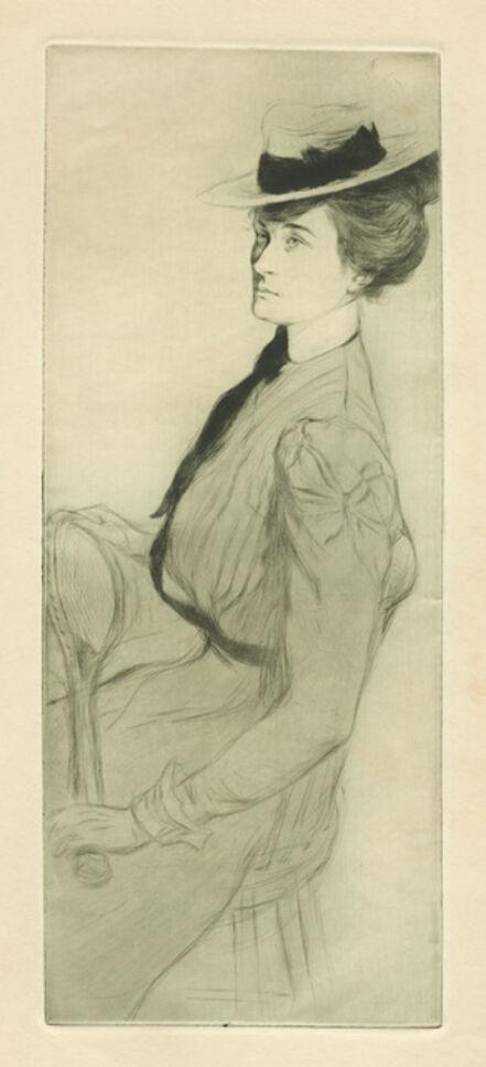 Edgar Chahine, 'Demoiselle au Tennis', 1899