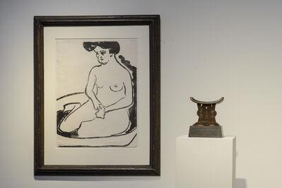 Ernst Ludwig Kirchner, 'Großer Mädchenakt in Badetub & Shona, headrest'