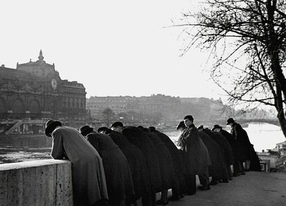 Fred Stein, 'Leaning Over Railing, Paris', 1938