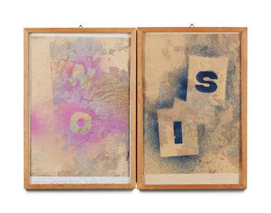 Alighiero Boetti, 'Senza Titolo (il si è Meglio del no?)', 1981