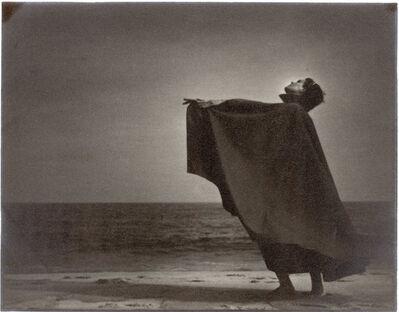 Gjon Mili, 'Dark Moody Dancer on Beach from Anita John School', 1936
