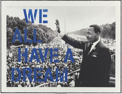 Mr. Brainwash, 'We all have a dream (Blue)', 2015