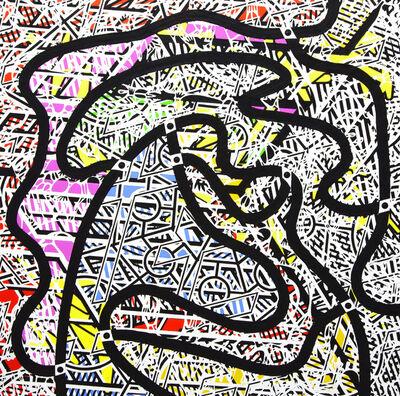 Bernard Cohen, 'One, Two, Three, Four - 4', 2004