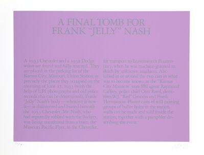 "Robert Morris (b. 1931), ' A Final Tomb for Frank ""Jelly"" Nash', 1980"