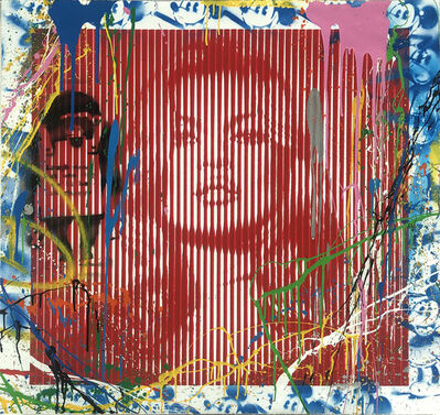 Mr. Brainwash, 'Fame Moss/ Kate Moss Red (Unique)', 2015
