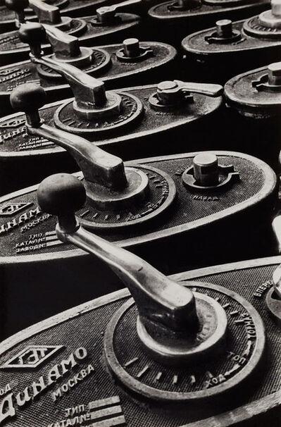 Boris Ignatovich, 'Tram control levers', 1930
