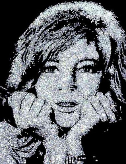 Vik Muniz, 'Monica Vitti (From the Diamond Series)', 2004