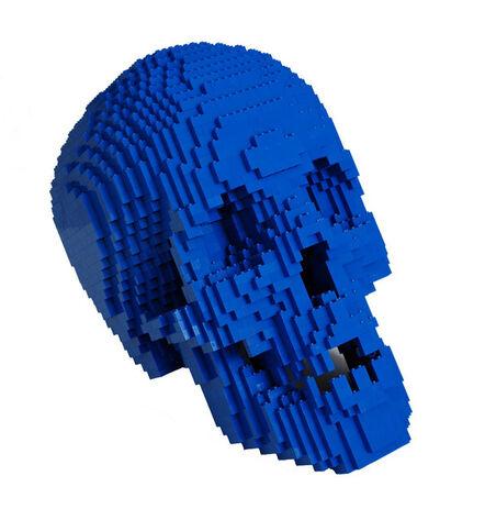 Nathan Sawaya, 'Blue Skull', 2012