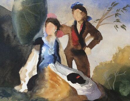 Elise Ansel, 'Study I for Green Parasol, (after Goya)', 2015