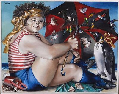 Enrique Grau, 'Niña en la Playa ', 1973
