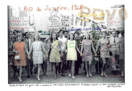 """Marcelo Brodsky, 'From the series """"1968, the fire of the ideas"""", Río de Janeiro, Passeata dos cem mil 2, 1968', 1698-2015"""