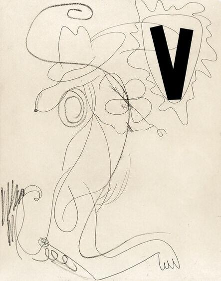 Charline von Heyl, 'Snoopy (Black V)', 2014