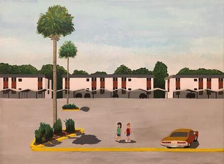 Don Hammontree, 'Parking Lot, Palm Trees, Daytona Beach, FL', 2019