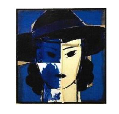 Manolo Valdés, 'Dama con sombrero azul', 2017