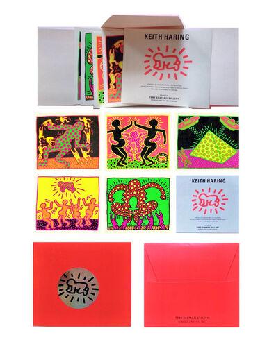 "Keith Haring, '""Apocalypse"", Promo Mini (5) Card Folio, Shafrazi Gallery NY', 1985"