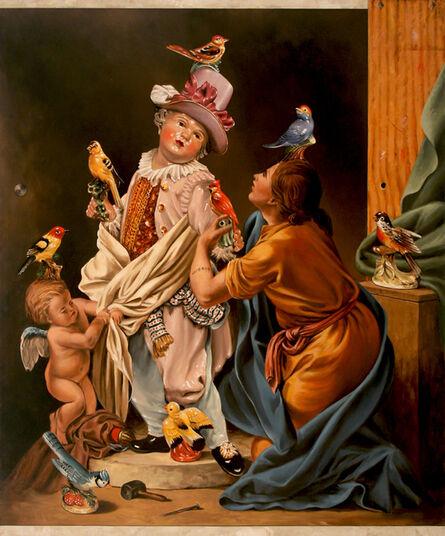 Jerry Kunkel, 'Pygmalian and Birg Figurine Guy'