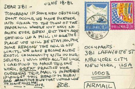 Robert Rauschenberg, 'Postcard sent from China by Robert Rauschenberg to staff at his 381 Lafayette Street studio, New York', 1982