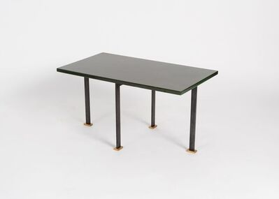 Maison Leleu, 'A Pair of Green Lacquered Side Tables', 1963