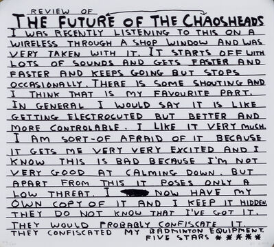 David Shrigley, 'FH10 - The Futureheads - Chaos', 2010