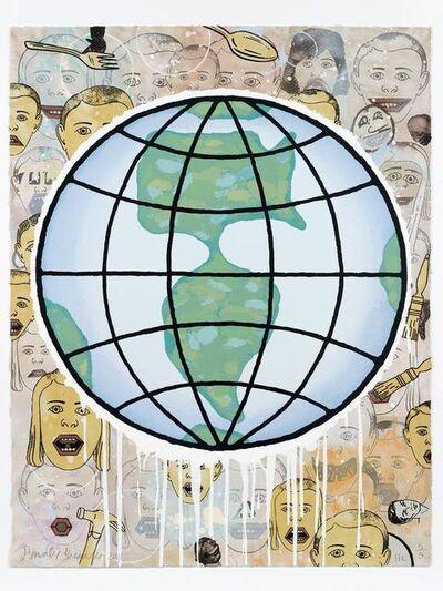 Donald Baechler, 'Lincoln Center Globe', 2011