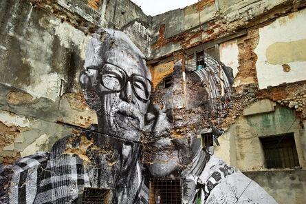 JR, 'The Wrinkles of the City, La Havana, Rafael Lorenzo y Obdulia Manzano, (artwork by JR, project by JR & José Parlá) Cuba', 2012