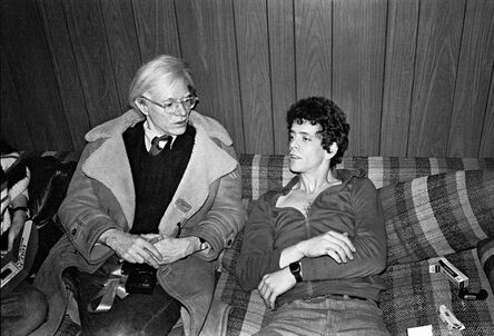 Mick Rock, 'Lou Reed, Andy Warhol', 1976