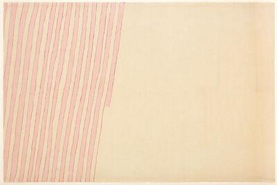 Giorgio Griffa, 'Linea doppia', 1979