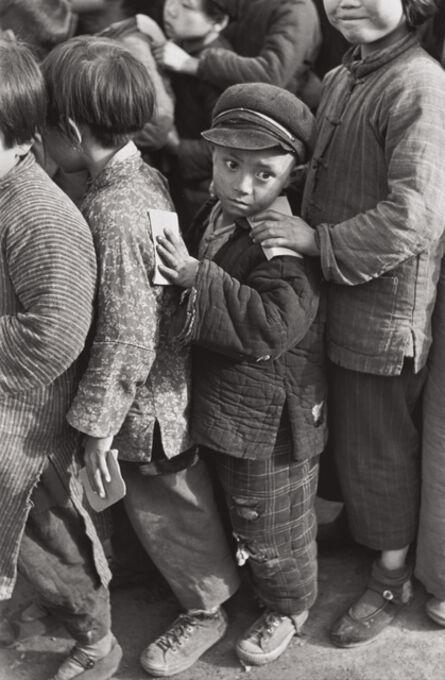 Henri Cartier-Bresson, 'Children await rice distribution, Shanghai, China', 1949