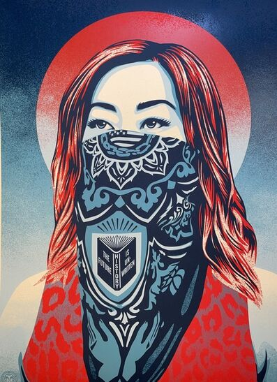"""Shepard Fairey, 'Shepard Fairey """"Just Future Rising"""" Stop Asian Hate Print Cover Of Time Magazine Obey Giant', 2021"""