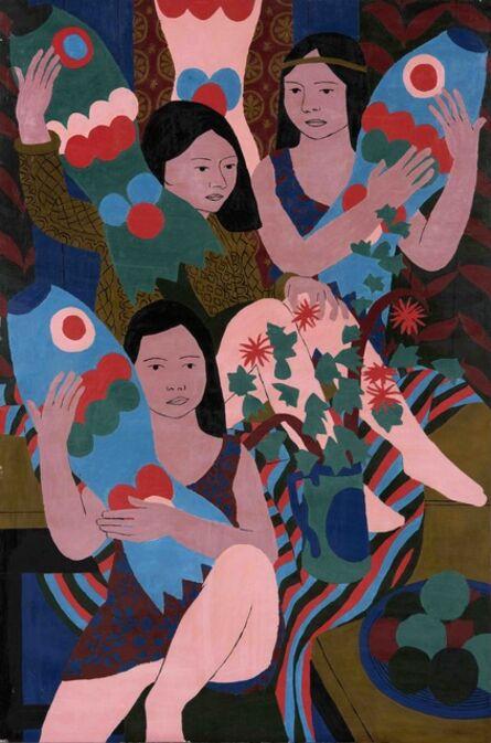 Norman Gilbert, 'Three Girls and Tissue Paper Fish', 1970