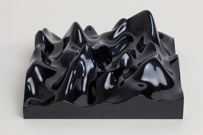 Peter Saville, 'Unknown Pleasure, Irodin 163, shimmer pearl on black background', 2015