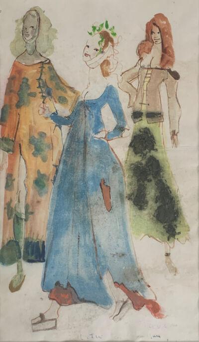 Leonor Fini, 'Trois Femmes (Custom Study)', 1954-1969