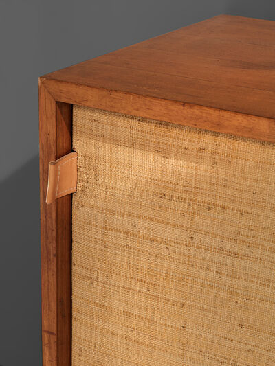 Florence Knoll, 'Early Florence Knoll Walnut Credenza with Cane Sliding Door', 1961