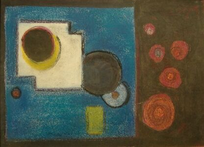 Agnes Weinrich, 'Abstract (Red Circles)', n.d.