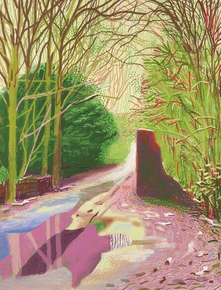 David Hockney, 'The Arrival of Spring in Woldgate, East Yorkshire in 2011 (twenty eleven) – 2 January 2011', 2011