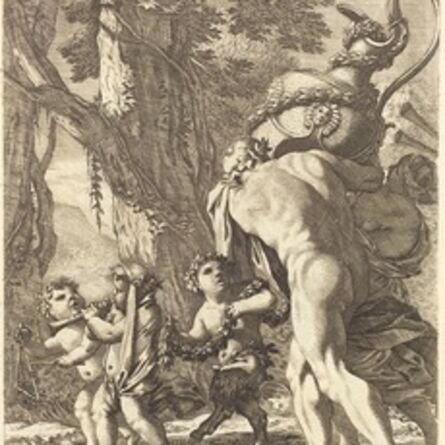 Michel Dorigny, 'Bacchanal with Figures Carrying a Vase', 1650s