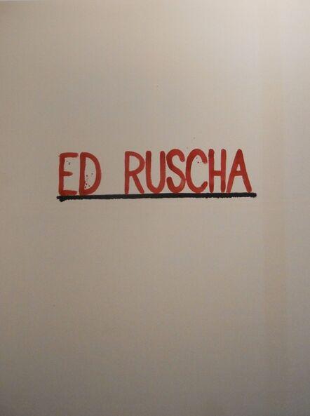 AGGTELEK, 'Ed Ruscha', 2015