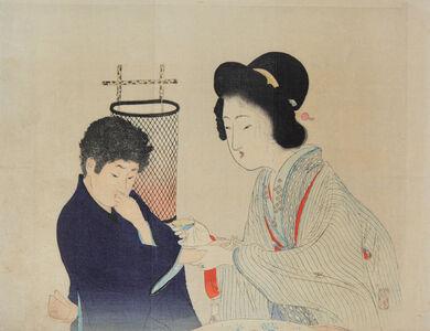 Tomioka Eisen, 'Murasaki Hifu ', 1899