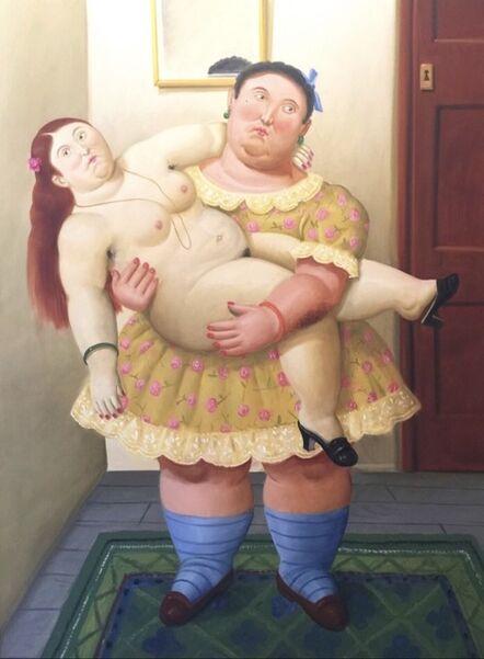 Fernando Botero, 'Uomo con donna in braccio', 2006