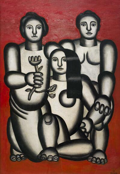 Fernand Léger, 'Trois femmes sur fond rouge ', 1927
