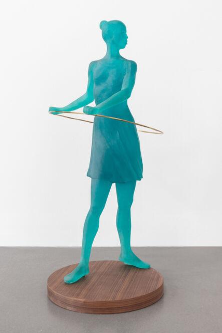 Derek Fordjour, 'Contrapposto(Teal)', 2020