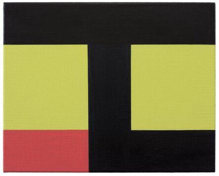 Helmut Federle, 'Basics on Composition J (Dedication: Ezra Pound) (Der Tod der Amsel)', 2019
