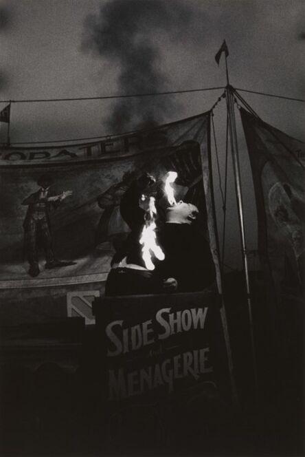 Diane Arbus, 'Fire Eater at a carnival, Palisades Park, N.J.', 1957