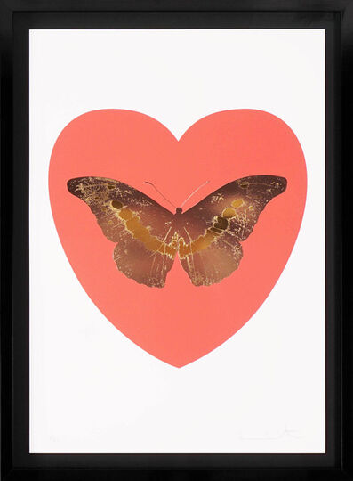 Damien Hirst, ''I Love You' Butterfly, White/Coral ', 2015