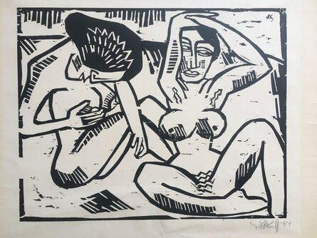 Karl Schmidt-Rottluff, 'Mussige Hetaren (Idle Courtesans)', 1914