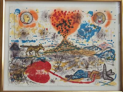 Roy DeForest, 'Untitled (Volcano for a Dying Cowboy and his Dog?)', ca. 1979