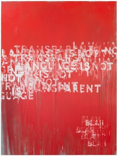 Mel Bochner, 'Transparent', 2015