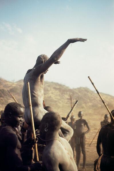 George Rodger, 'Champion of the Korongo Nuba wrestlers. Kordofan, Southern Sudan', 1949